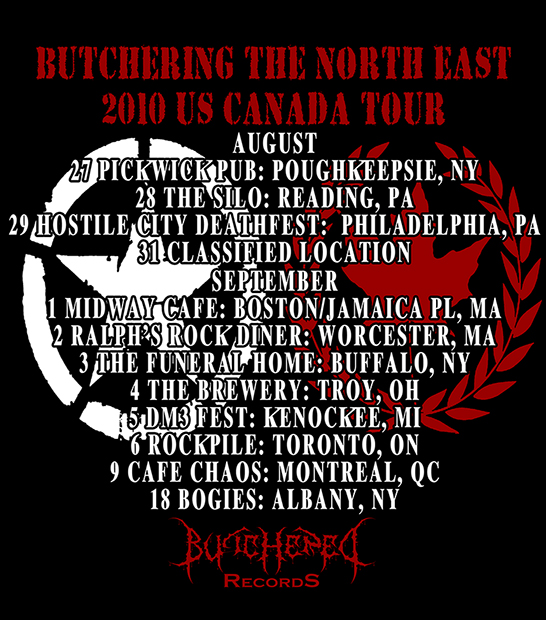 ButcheringTheNorthEast2010tour